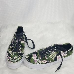 Ladies Vans Hawaiian Floral Tropical sneakers sz 8